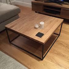 john lewis calia coffee table solid oak reclaimed steel in