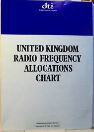 Details About Vintage Dti Uk Radio Frequency Allocations Chart 1988 Opens To A 3 Page Chart