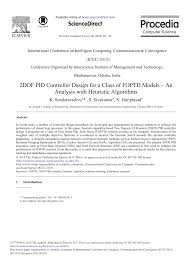 Design And Analysis Of Algorithms Books By Indian Authors 2dof Pid Controller Design For A Class Of Foptd Models An