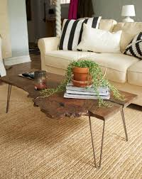 Tree slab coffee table Natural Wood The Fox She Diy Wood Slab Table