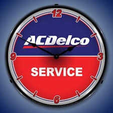 acdelco service led lighted wall clock