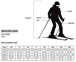Boulder Gear Size Chart Boulder Gear Mens Teton Ski Jacket Raven Gray Medium