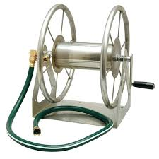 portable garden hose reel above liberty garden s multi purpose stainless steel hose reel can be portable garden hose reel
