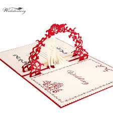 Wedding Valentines Day 3d Pop Up Greeting Cards Laser Cut Wedding