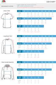Fruit Of The Loom Sweatshirt Size Chart 70 Symbolic Fruit Of The Loom Sizing Chart T Shirt