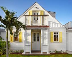 white front door yellow house. White Cottage Home With Yellow Shutters View Full Size Front Door House N