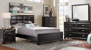 furniture bedroom set king. belcourt black 5 pc king upholstered bedroom furniture set
