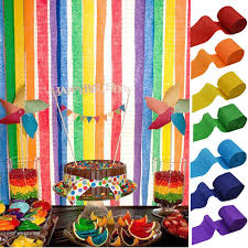 5cm 10m crepe paper streamers diy paper garland photography backdrops for wedding birthday party baby shower venue decoration