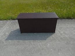 NEW RATTAN PLASTIC GARDEN WICKER STORAGE BOX CUSHIONS WATERPROOF