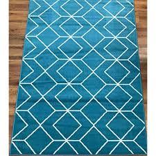 kashan king collection trellis polypropylene area rug blue cream
