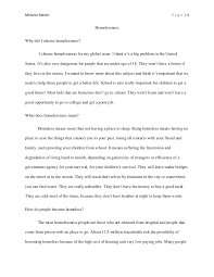 homelessness essay co research paper homelessness