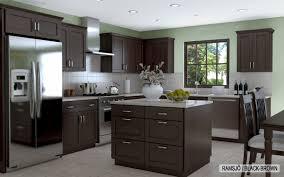 Kitchen Remodeling Wonderful Ikea Kitchen With Grey Granite - Dark brown kitchen cabinets