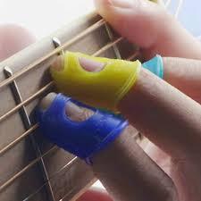 <b>5 PCS Silicone Guitar</b> Thumb Bass Finger Picks Protector Plectrum ...