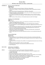 Supervisor Resume Examples Sales Supervisor Resume Samples Velvet Jobs 57