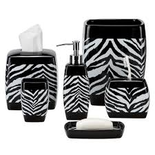 Awesome Black And White Zebra Print Bath Accessories Pink Of ...