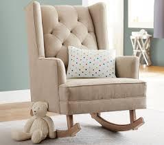 modern nursery rocking chair modern tufted wingback rocker stylish nursery chairs pottery