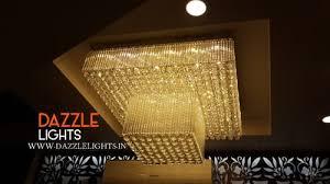 modern glass crystal chandelier