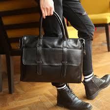 casual men briefcase business shoulder bags leather messenger bags laptop handbag men s travel bag men s office work bag