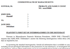 Court Document Templates Discovery In Massachusetts Divorce Document Templates