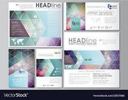 Social Media Design Templates Social Media Posts Set Business Templates Flat Vector Image