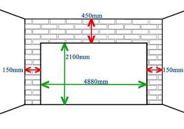double garage door merements