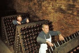 Image result for pictures of riddling racks for champagne