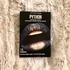 hp nib maybelline python metallic venomous lip kit