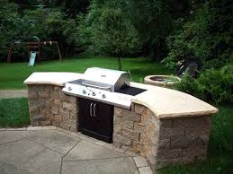 built in bbq. Built In Bbq Grills On This Project We Did An Block Grill With Custom Sandstone Caps