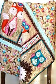 owl baby bedding for girl rustic baby bedding nursery baby quilt girl woodland critters fox owl