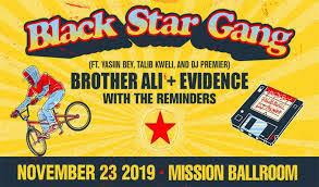 Mission Ballroom Denver Co Seating Chart Black Star Gang Yasiin Bey Talib Kweli Dj Premier