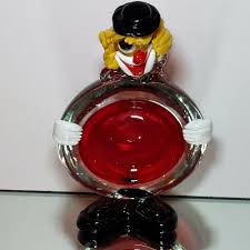 details about vintage murano sommerso and lamp work glass clown ashtray bowl 1960 s mcm