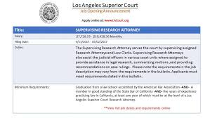 Legal Project Manager Salary La Superior Court Hr Superiorcourthr