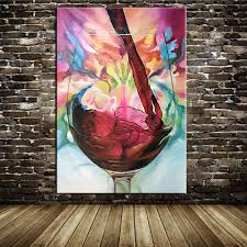 100%Hand Painted Abstract Modern Oil Painting On Canvas Grape Red Wine  Picture Wall Decoration For Dining Room Wall Decor Art-in Painting &  Calligraphy from ...