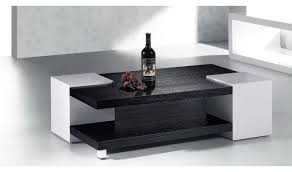 Vaughan Black and White Lacquer Coffee Table Furniture | Xiorex
