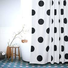 white black dots shower curtains polyester waterproof bathroom shower curtain style bath curtain with hooks from waterproof fabric shower curtain canada