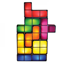 tetris stackable led desk lamp night light toy rechargeable battery