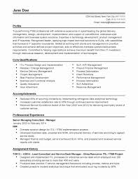 Resume Templates For Finance Professionals Valid Sample Hr Resume