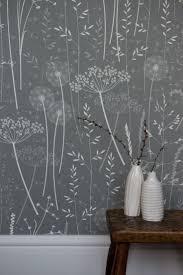 charcoal paper meadow wallpaper / Hannah Nunn