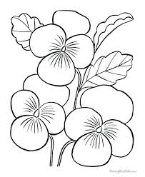 Flower Color Page Flower Color Page Simple Flower Coloring Pages