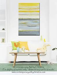 original art abstract painting yellow