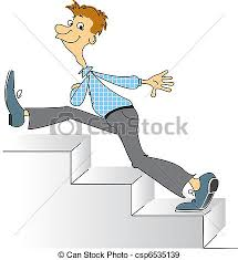up stairs clipart. Perfect Clipart Smiling Man Going Upstairs Comic Vector Image Throughout Up Stairs Clipart S