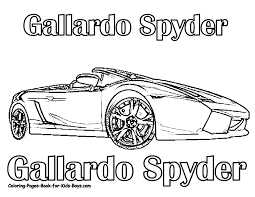Handsome Rugged Lamborghini Coloring Pages Cars