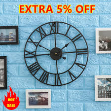 extra large metal wall clock oversized