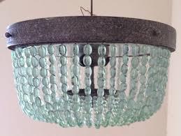 turquoise lighting. Aqua Turquoise Beaded Lighting Fixture Chandelier By Illumehome