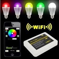 iphone controlled lighting. Intelligent RGBW LED BUlb Iphone Controlled Lighting T