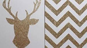 apartment decor diy glitter canvas wall art
