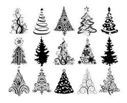 Christmas Tree Vector Art At Getdrawings Com Free For Personal Use