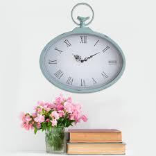 internet 302888133 stratton home decor shabby pocket watch wall clock