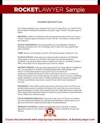 Apartment Rental Contract Sample New Furnished Apartment Rental Lease Agreement With Sample