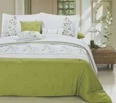 lime green white luxury comforter set